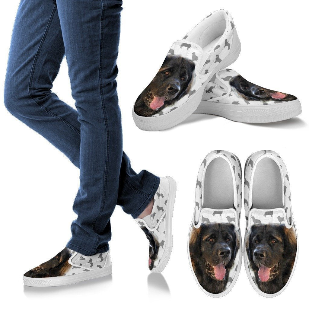 Leonberger Print Slip Ons For Women- Express Shipping - Deruj.com