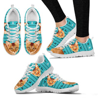 Abyssinian Cat Christmas Running Shoes For Women- Free Shipping - Deruj.com