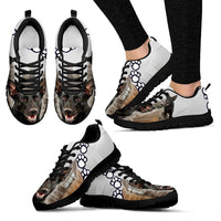 Customized Dog Print Sneakers For Women(White)-Designed By Andrea Frey-Express Shipping - Deruj.com