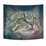 Amazing Norwegian Forest Cat Print Tapestry-Free Shipping - Deruj.com