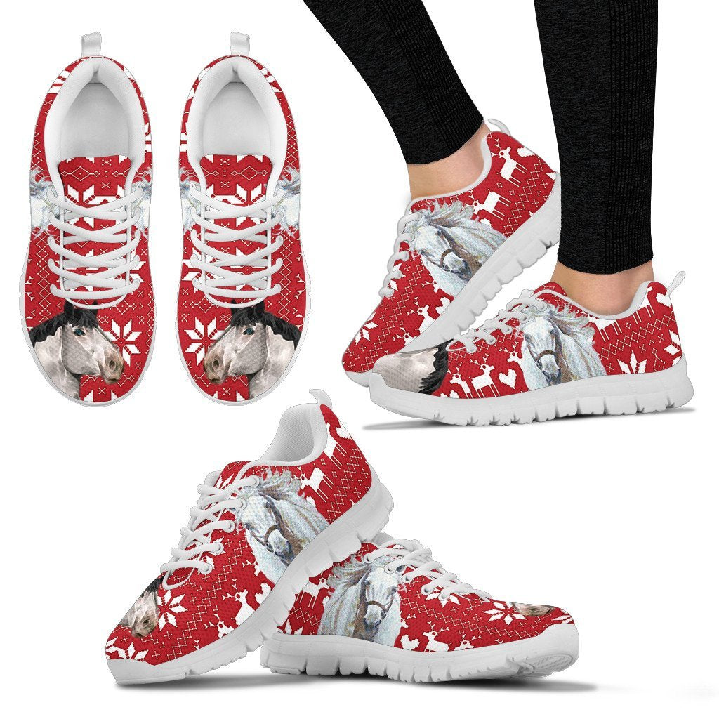 Percheron Horse Christmas Running Shoes For Women- Free Shipping - Deruj.com
