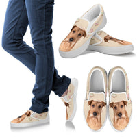 Irish Terrier Dog Print Slip Ons For Women-Express Shipping - Deruj.com