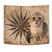Scottish Fold Cat Print Tapestry-Free Shipping