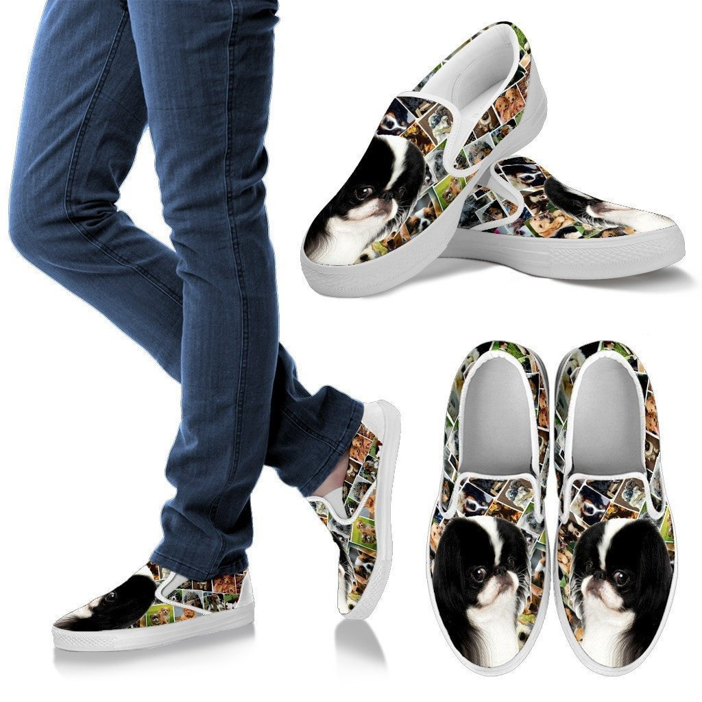 Amazing Japanese Chin Dog Print Slip Ons For Women-Express Shipping - Deruj.com