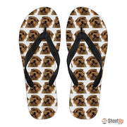 Norfolk Terrier Flip Flops For Men-Free Shipping - Deruj.com