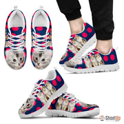 Beautiful American Curl Cat Print Sneakers For Men- Free Shipping - Deruj.com