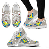 Hyacinth Macaw Parrot2 Print Christmas Running Shoes For Women-Free Shipping