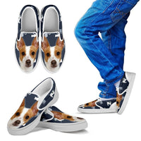 Rat Terrier Print Slip Ons For Kids- Express Shipping - Deruj.com