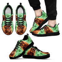 English Toy Spaniel Print (Black/White) Running Shoes For Men-Limited Edition-Express Delivery - Deruj.com