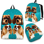 Cavalier King Charles Spaniel Dog Print Backpack-Express Shipping - Deruj.com