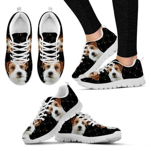 Customized Dog Print Running Shoes For Women-Free Shipping-Designed By Tania Vachaud - Deruj.com