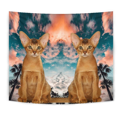 Cute Abyssinian Cat Print Tapestry-Free Shipping - Deruj.com