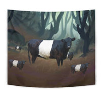 Belted Galloway Cattle (Cow) Print Tapestry-Free Shipping - Deruj.com