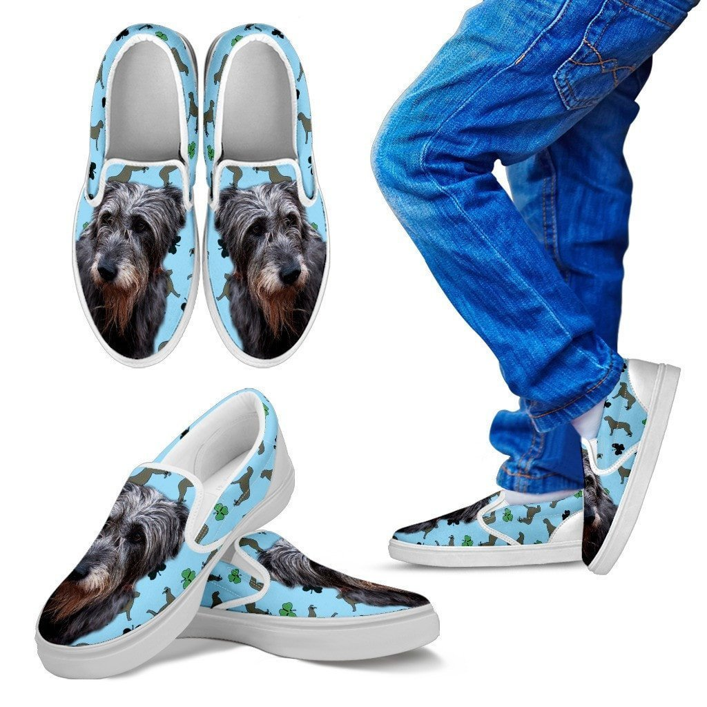 Irish Wolfhound Print Slip Ons For Kids- Express Shipping - Deruj.com
