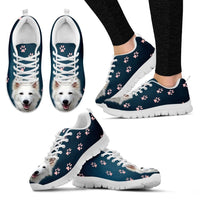 Customized Dog Print Running Shoes For Women-Designed By Nicole Greub - Deruj.com