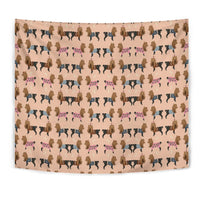 Cute Yorkie Pattern Print Tapestry-Free Shipping - Deruj.com