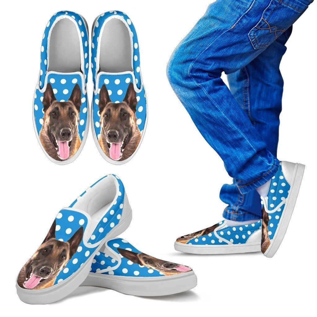 Belgian Malinois Dog Slip Ons For Kids-Free Shipping - Deruj.com