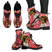 Valentine's Day Special-German Shorthaired Pointer Dog Print Boots For Women-Free Shipping - Deruj.com