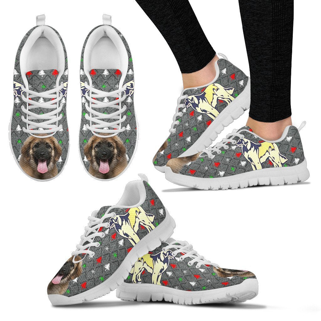 Leonberger Dog Print Christmas Running Shoes For Women-Free Shipping - Deruj.com