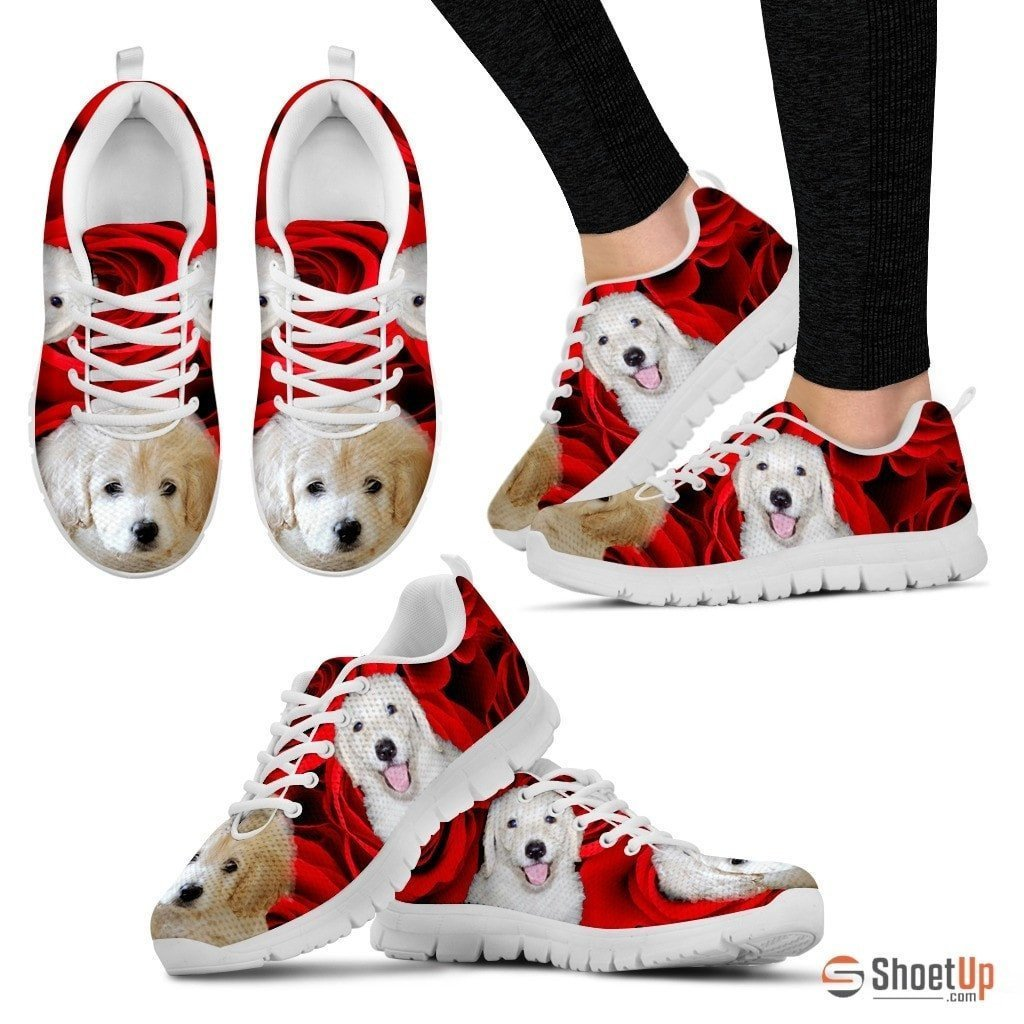 White labradoodle Running Shoe For Women- Free Shipping - Deruj.com