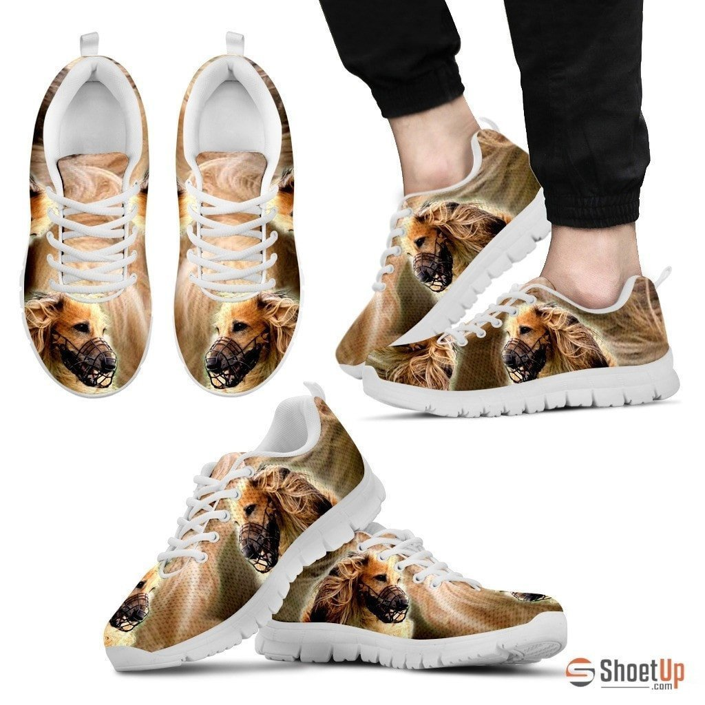 On Demand Dog Print (Black/White) Running Shoes For Men-Free Shipping Limited Edition - Deruj.com