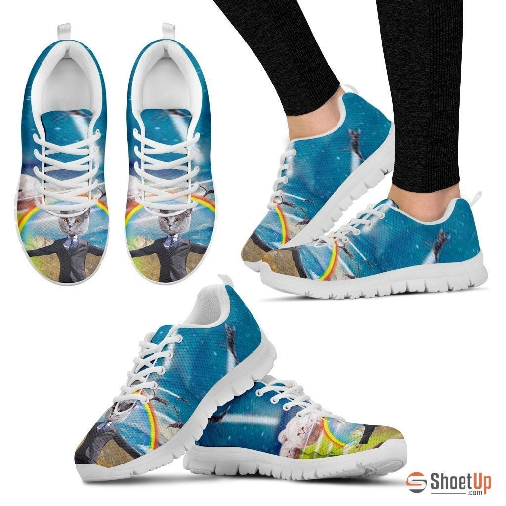 Rainbow Cat Running Shoes For Women-3D Print-Free Shipping