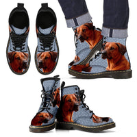 Rhodesian Ridgeback Print Boots For Men-Express Shipping - Deruj.com