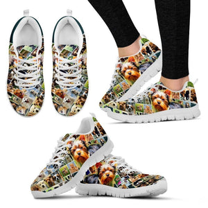 Lovely Yorkshire Print-(Black/White) Running Shoes For Women-Express Shipping - Deruj.com