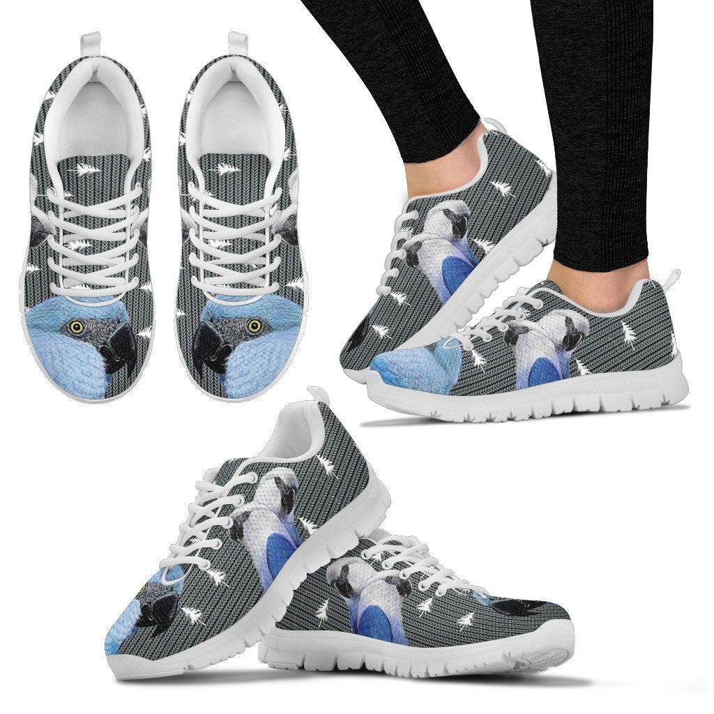 Spix Macaw Parrot Print Christmas Running Shoes For Women-Free Shipping