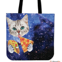 Hungry Cat-Tote Bag-Free Shipping - Deruj.com