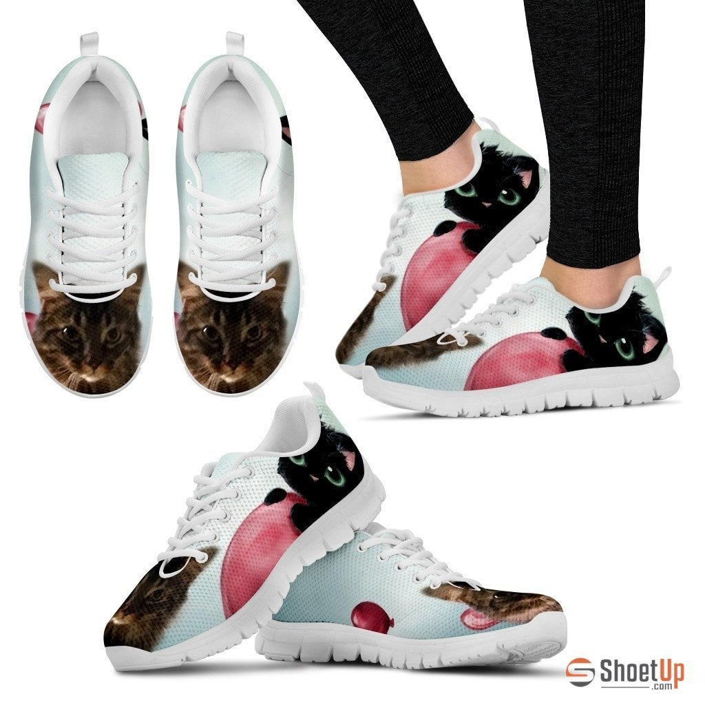 Deanna Huston/Cat-Running Shoes For Women-3D Print-Free Shipping - Deruj.com