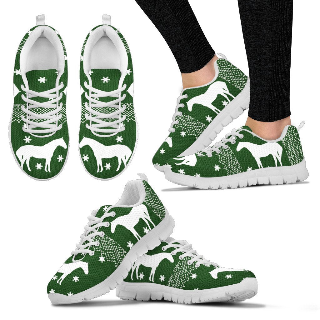 Holsteiner horse Print Christmas Running Shoes For Women-Free Shipping - Deruj.com