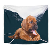 Bloodhound Dog Print Tapestry-Free Shipping