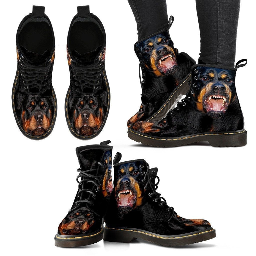 Rottweiler Print Boots For Women-Express Shipping - Deruj.com