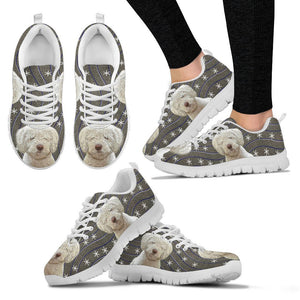 Spanish Water Dog Print Christmas Running Shoes For Women-Free Shipping