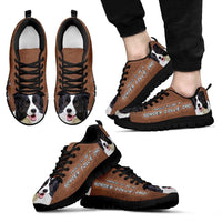 'Proud To Be A Border Collie Dad' Running Shoes-Father's Day Special - Deruj.com