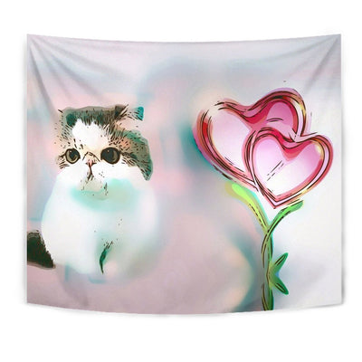 Exotic Shorthair Cat Print Tapestry-Free Shipping - Deruj.com