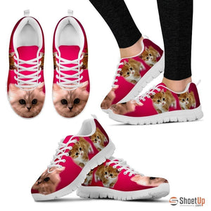 Cute Munchkin Cat Print Sneakers For Women- Free Shipping - Deruj.com