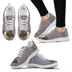 Hampshire pig Print Christmas Running Shoes For Women-Free Shipping - Deruj.com