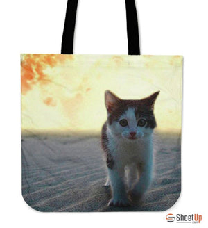 Impression Cat Tote Bag-3D Print-Free Shipping