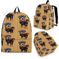 Rottweiler With Jacket Print Backpack- Express Shipping - Deruj.com
