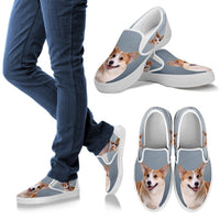 Pembroke Welsh Corgi Print Slip Ons For Women-Express Shipping - Deruj.com