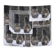 Norwegian Forest Cat Print Tapestry-Free Shipping - Deruj.com