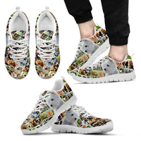 Lovely West Highland White Terrier Print-Running Shoes For Men-Express Shipping - Deruj.com
