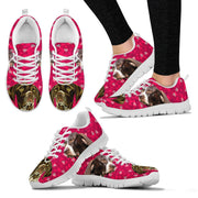 Valentine's Day Special-German Shorthaired Pointer Dog Print Running Shoes For Women- Free Shipping - Deruj.com