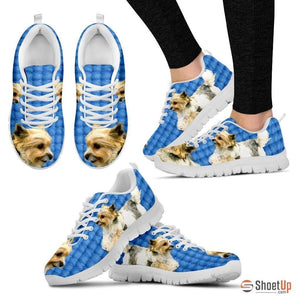 Customized Dog Print (Black/White) Running Shoes For Women Designed By Shanan Roth-Free Shipping - Deruj.com