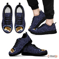 Chinese Hamster Printed (Black/White) Running Shoes For Men-Free Shipping Limited Edition - Deruj.com