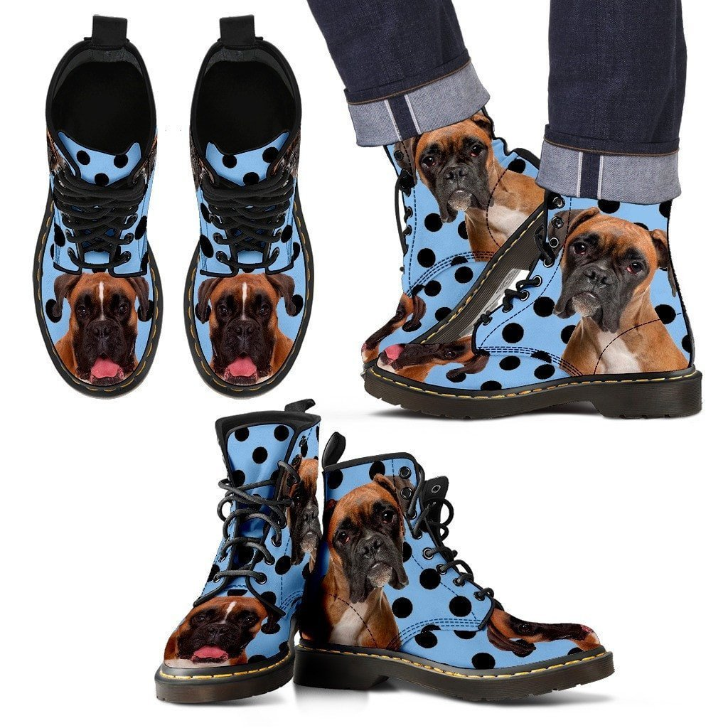 Boxer Print Boots For Men-Express Shipping - Deruj.com