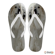 Great Pyrenees Print Flip Flops For Men-Free Shipping Limited Edition - Deruj.com