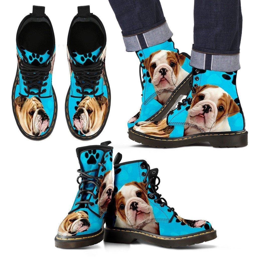 Bulldog Print Boots For Men-Limited Edition-Express Shipping - Deruj.com